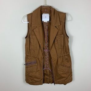 Anthropologie hei hei brown utility/ military vest